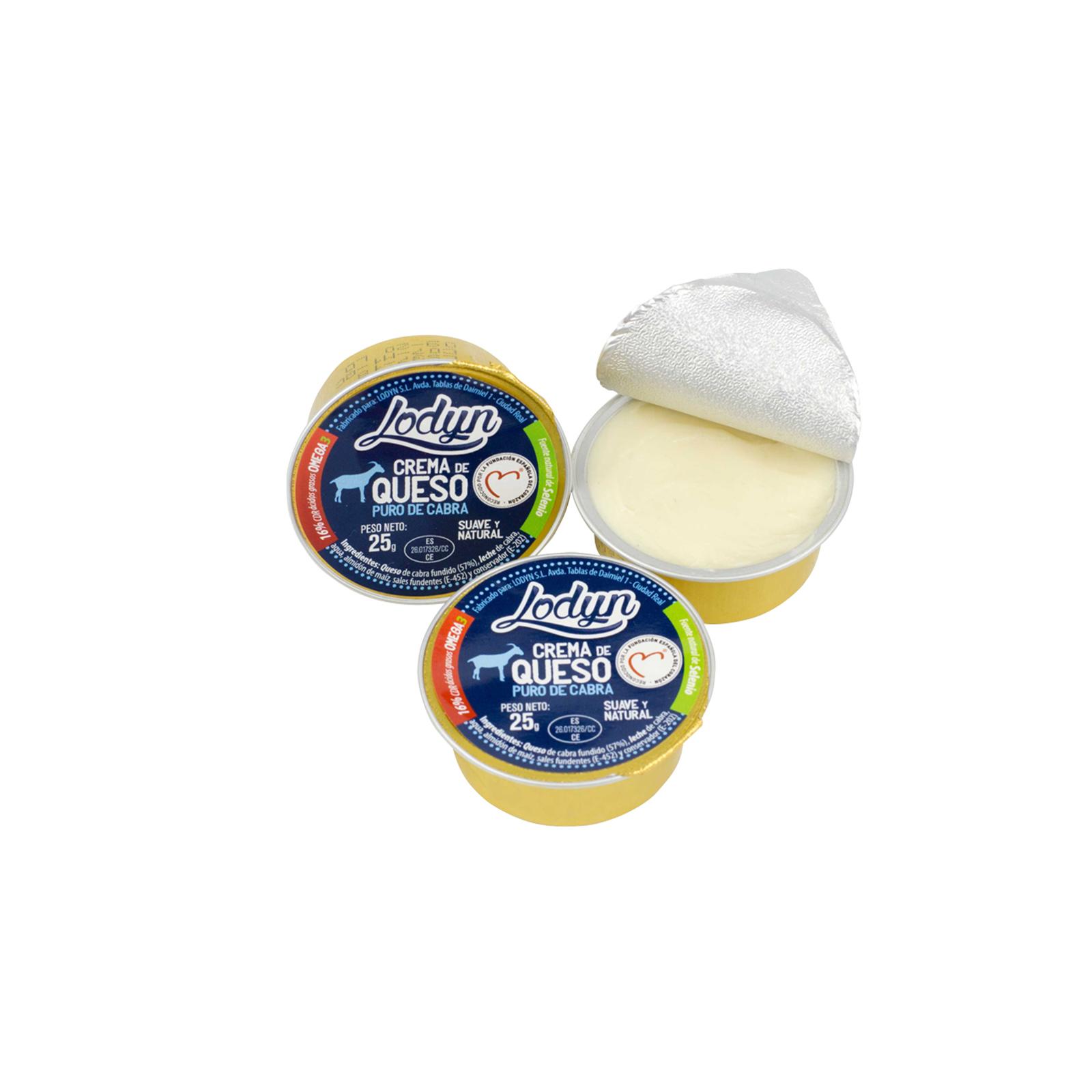 Monodosis de crema de queso de cabra Lodyn con Omega 3
