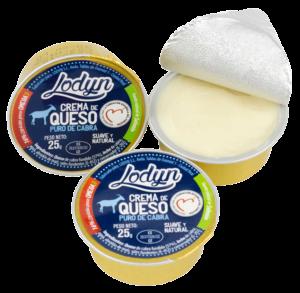 Crema de queso Lodyn en monodosis